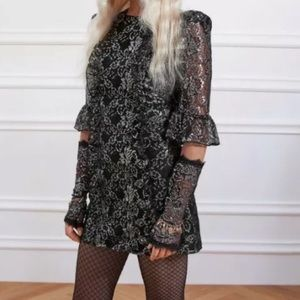 H&M x vampires wife black and silver dress